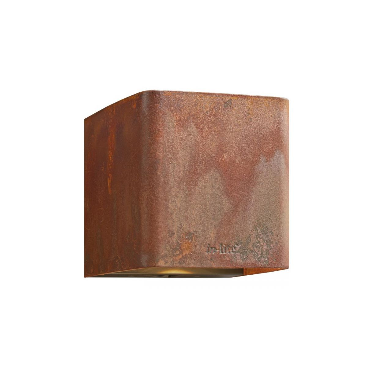 in-lite Ace Corten Wall Down Light 230v.1